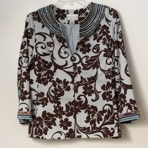 🍁Victor Costa Sequined Jacket NWOT🍁**GORGEOUS**